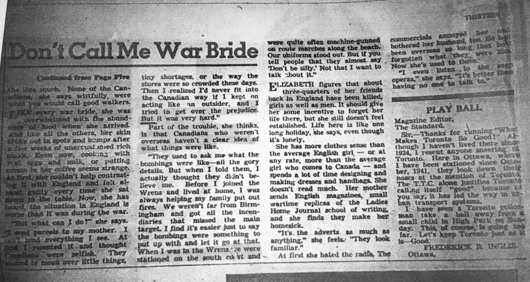 Don't Call Me War Bride 1
