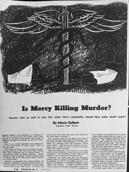 Is Mercy Killing Murder? 1