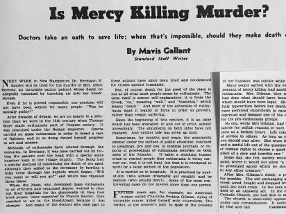 Is Mercy Killing Murder? 2